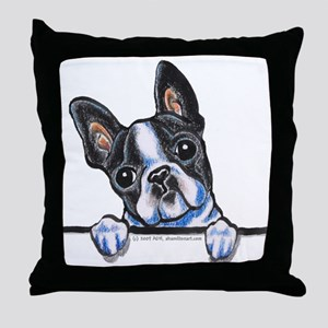 Curious Boston Throw Pillow